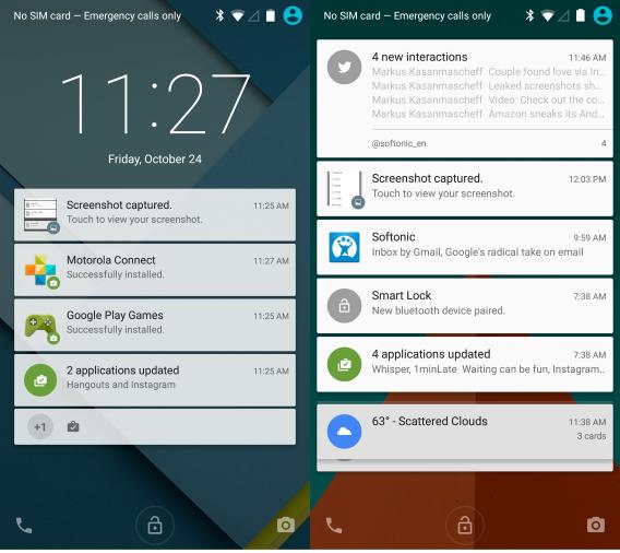 Android 5.0 Lollipop notifikacije