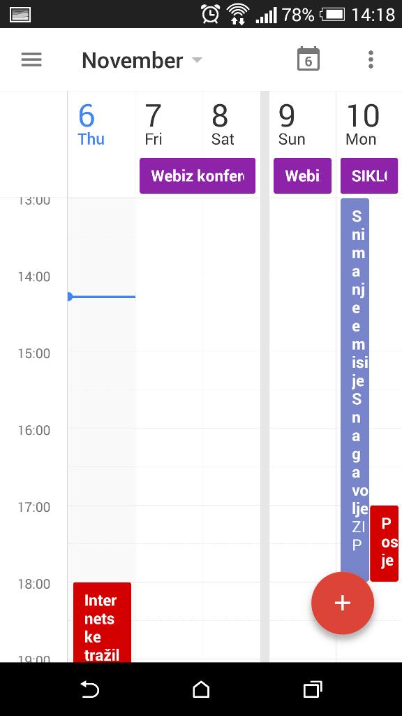 Google Kalendar Screenshot